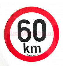 Omezení rychlosti  60 km retroreflexní pr. 200 mm