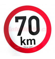 Omezení rychlosti  70 km retroreflexní pr. 200 mm