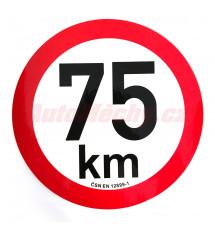 Omezení rychlosti  75 km retroreflexní pr. 200 mm