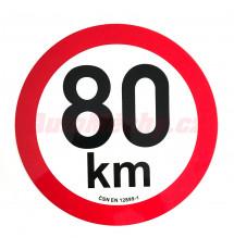 Omezení rychlosti  80 km retroreflexní pr. 200 mm