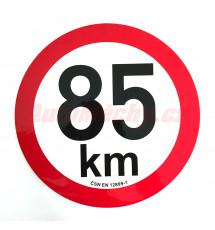Omezení rychlosti  85 km retroreflexní pr. 200 mm