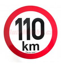 Omezení rychlosti 110 km retroreflexní pr. 200 mm