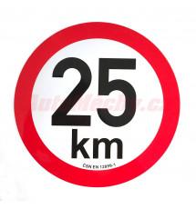 Omezení rychlosti  25 km retroreflexní pr. 200 mm