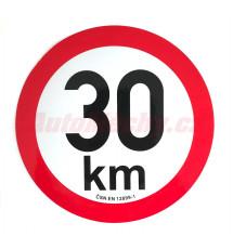 Omezení rychlosti  30 km retroreflexní pr. 200 mm