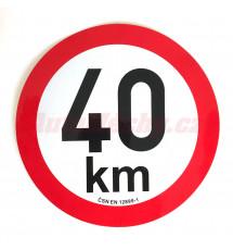 Omezení rychlosti  40 km retroreflexní pr. 200 mm