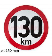 Omezení rychlosti 130 km retroreflexní pr. 150 mm (na přívěsy)