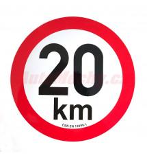 Omezení rychlosti  20 km retroreflexní pr. 200 mm