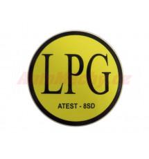 Značení LPG (ATEST-8SD) - samolepka vnější, prům. 71mm