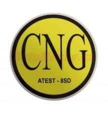 Značení CNG (ATEST-8SD) - samolepka vnější, prům. 71mm